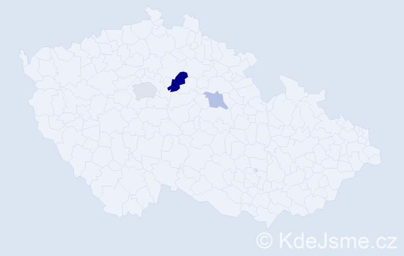 Příjmení: 'Čán', počet výskytů 6 v celé ČR