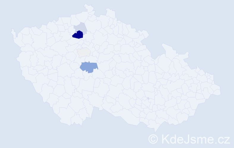 Příjmení: 'Černosta', počet výskytů 13 v celé ČR