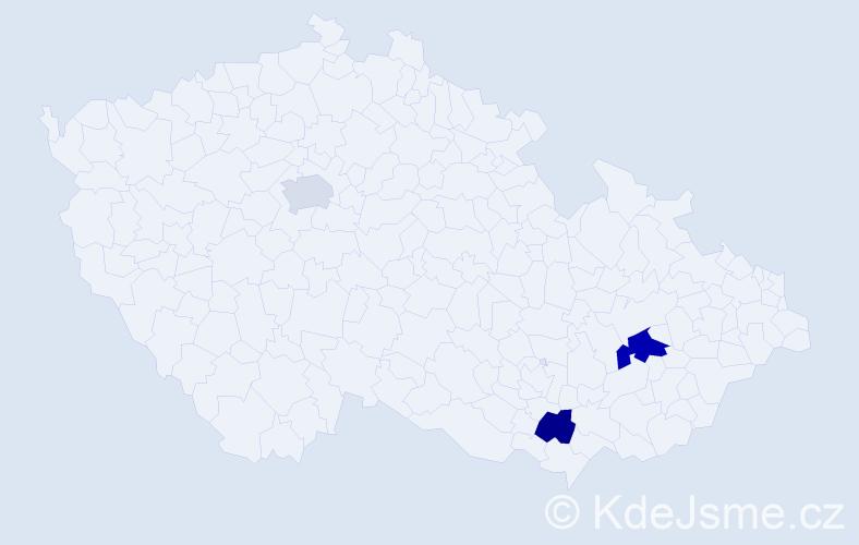 Příjmení: 'Jankrle', počet výskytů 4 v celé ČR