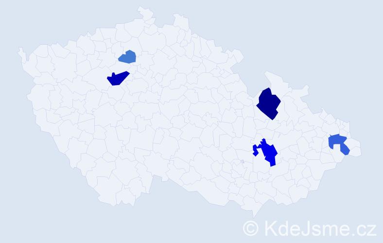 Příjmení: 'Jauernik', počet výskytů 17 v celé ČR