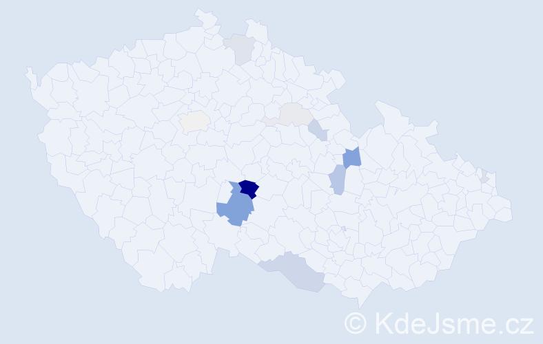 Příjmení: 'Dománková', počet výskytů 29 v celé ČR