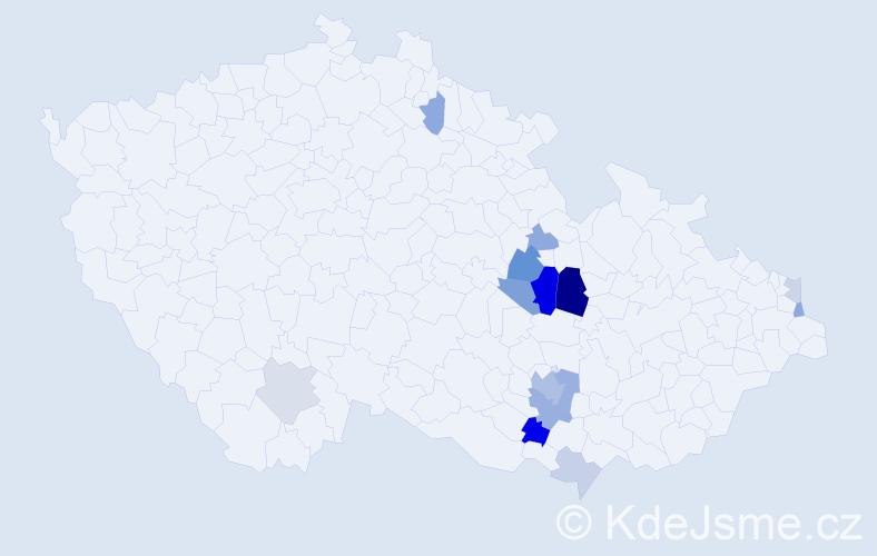 Příjmení: 'Knötig', počet výskytů 30 v celé ČR