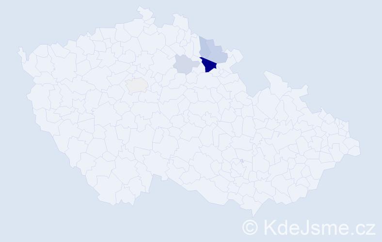 Příjmení: 'Brentner', počet výskytů 15 v celé ČR