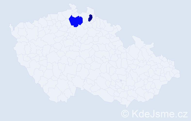 Příjmení: 'Andar', počet výskytů 2 v celé ČR