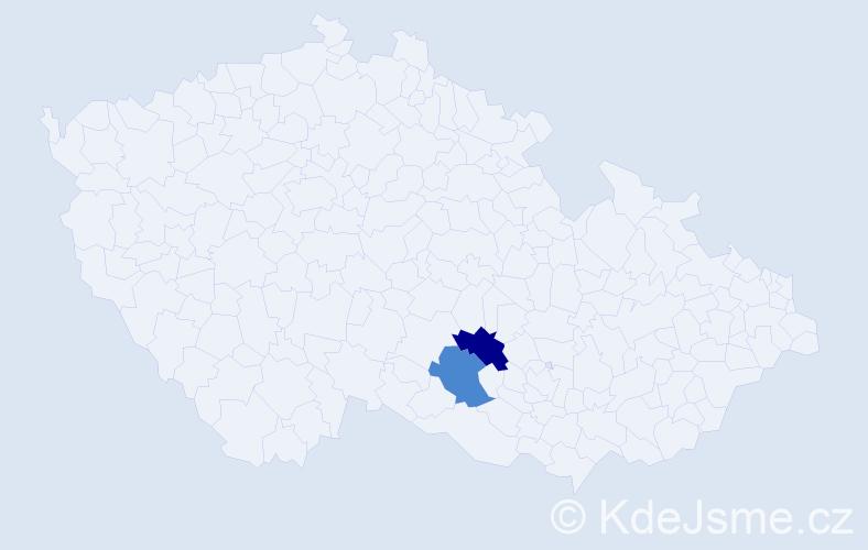 Příjmení: 'Jandúchová', počet výskytů 2 v celé ČR