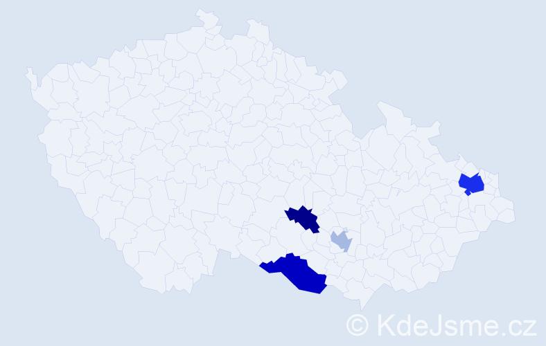 Příjmení: 'Čepura', počet výskytů 8 v celé ČR