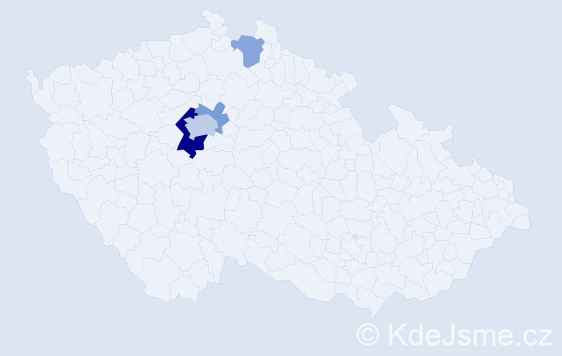 Příjmení: 'Laboutka', počet výskytů 18 v celé ČR