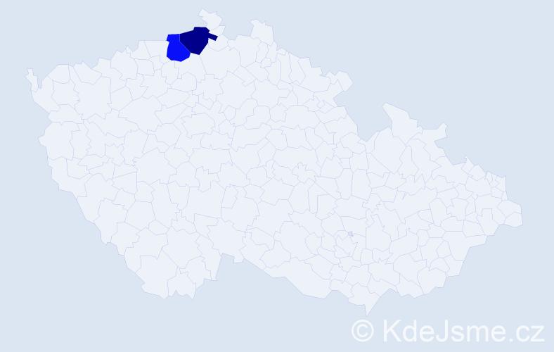 Příjmení: 'Cabálka', počet výskytů 8 v celé ČR