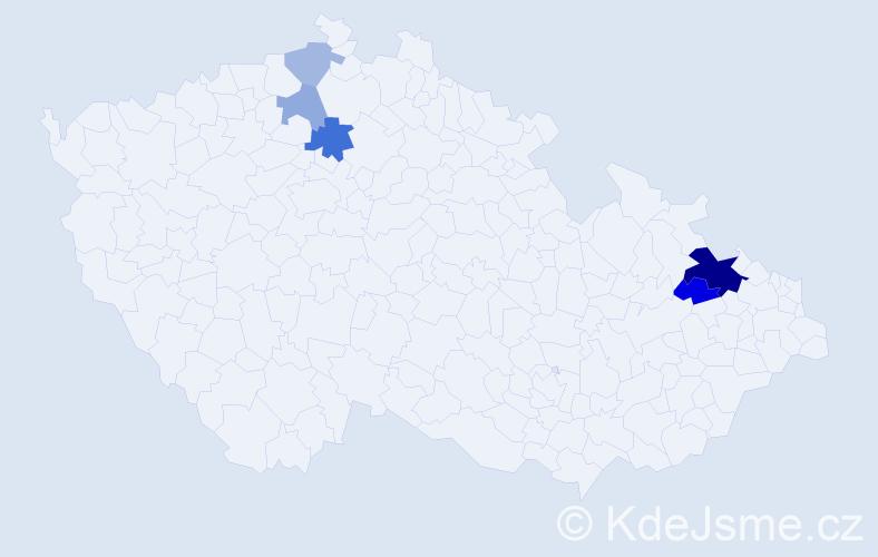 Příjmení: 'Dudoková', počet výskytů 12 v celé ČR
