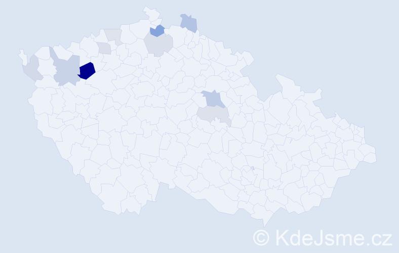 Příjmení: 'Jesínková', počet výskytů 18 v celé ČR