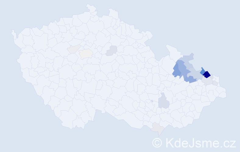 Příjmení: 'Krömer', počet výskytů 69 v celé ČR