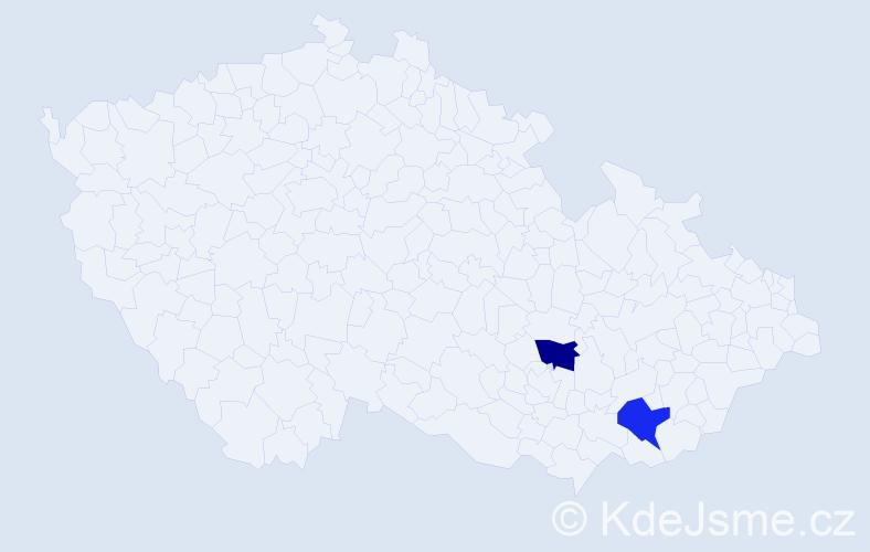 Příjmení: 'Bukatovičová', počet výskytů 2 v celé ČR
