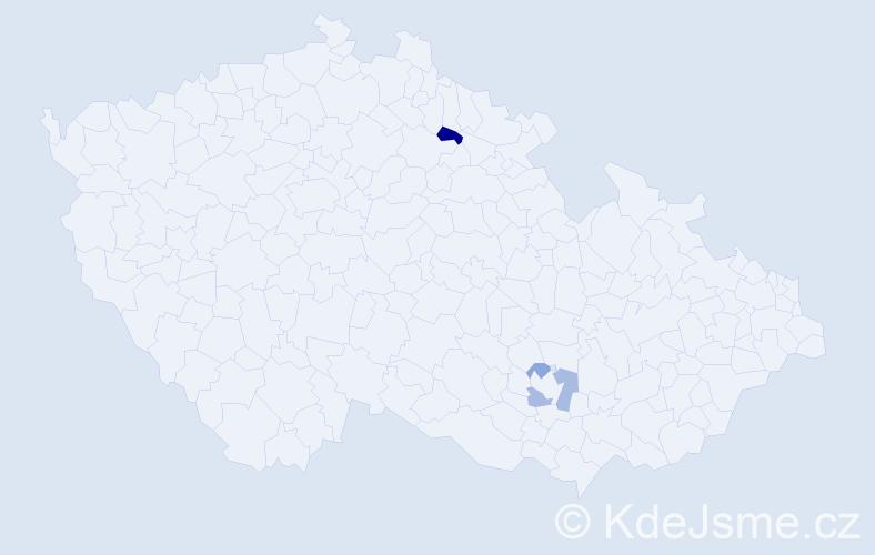 Příjmení: 'Geisselová', počet výskytů 6 v celé ČR