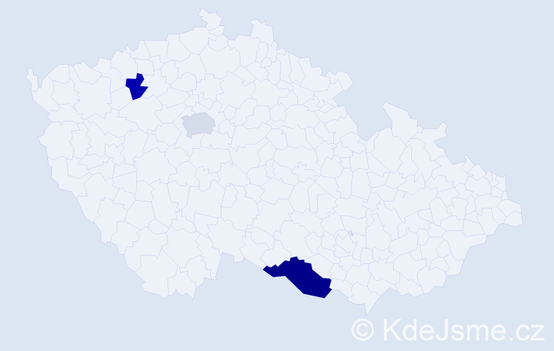 Příjmení: 'Kadnárová', počet výskytů 11 v celé ČR
