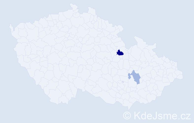 Příjmení: 'Holmesová', počet výskytů 3 v celé ČR