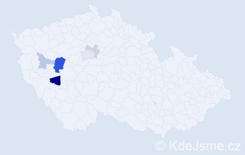 Příjmení: 'Hatnianek', počet výskytů 12 v celé ČR