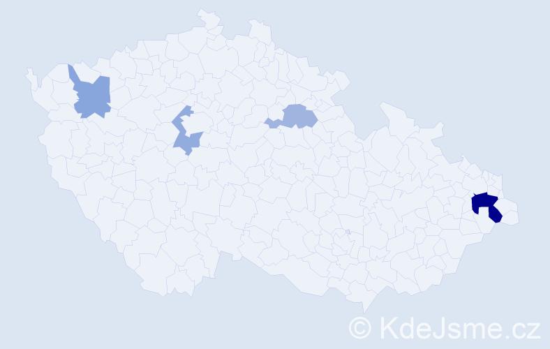 Příjmení: 'Jamrozová', počet výskytů 8 v celé ČR