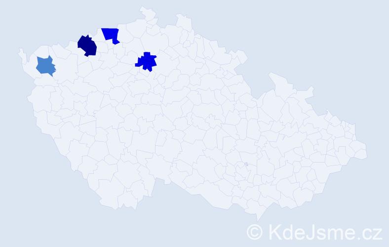 Příjmení: 'Endischová', počet výskytů 6 v celé ČR
