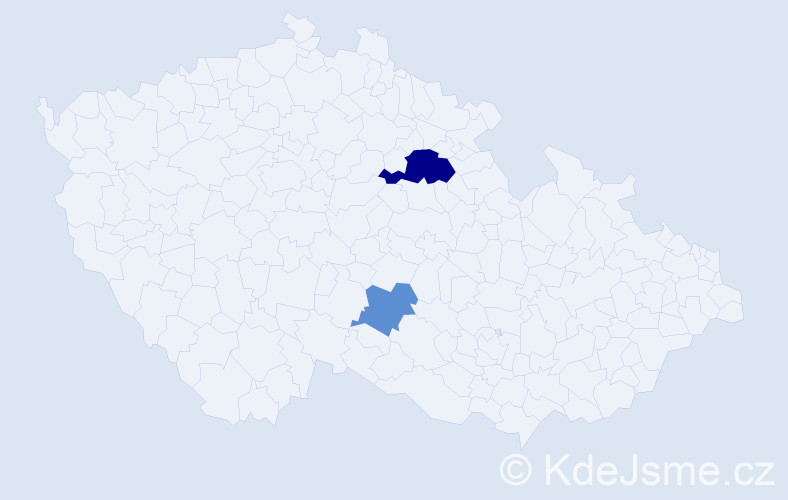 Příjmení: 'Gűmplová', počet výskytů 8 v celé ČR