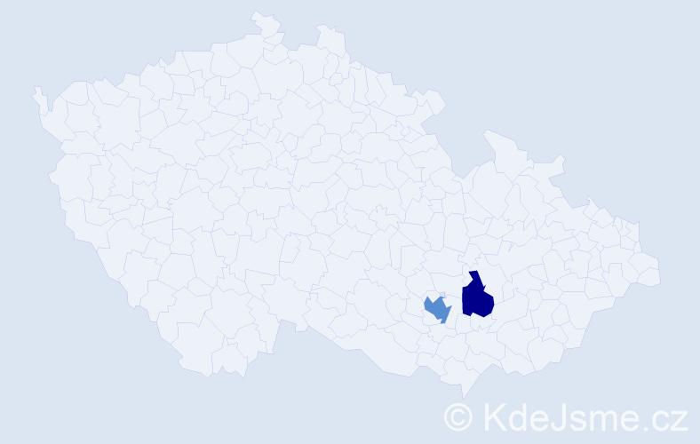 Příjmení: 'Barányová', počet výskytů 3 v celé ČR