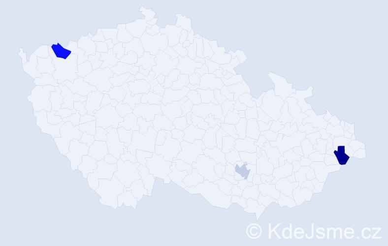 Příjmení: 'Corneliusová', počet výskytů 3 v celé ČR