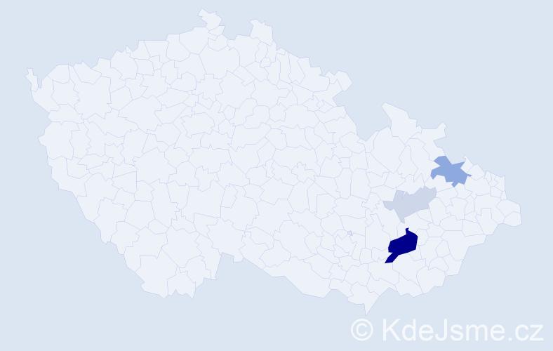 Příjmení: 'Gernová', počet výskytů 11 v celé ČR