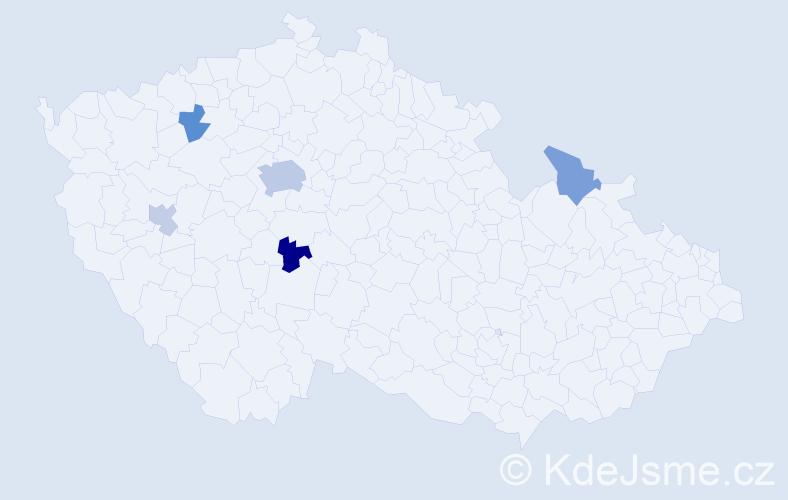 Příjmení: 'Janovjáková', počet výskytů 10 v celé ČR