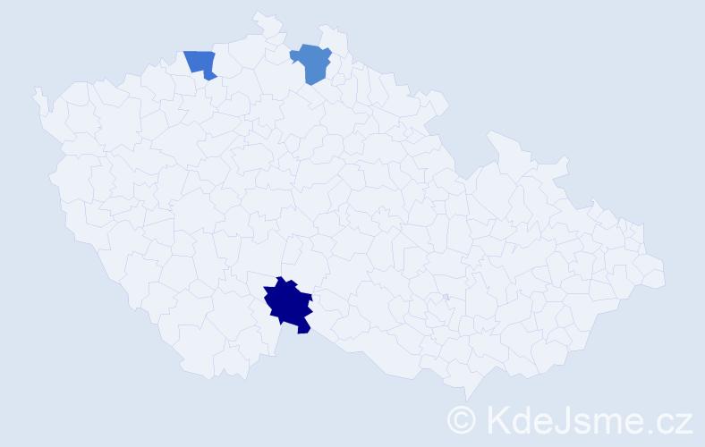 Příjmení: 'Erb', počet výskytů 3 v celé ČR