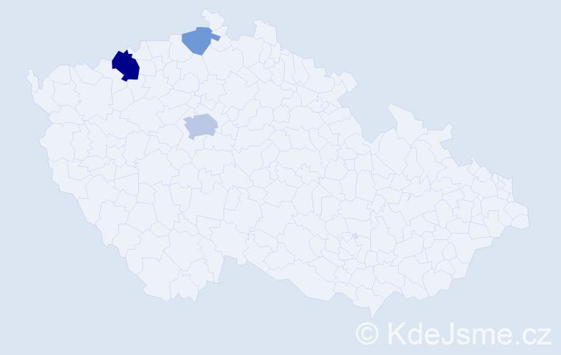 Příjmení: 'Legler', počet výskytů 7 v celé ČR