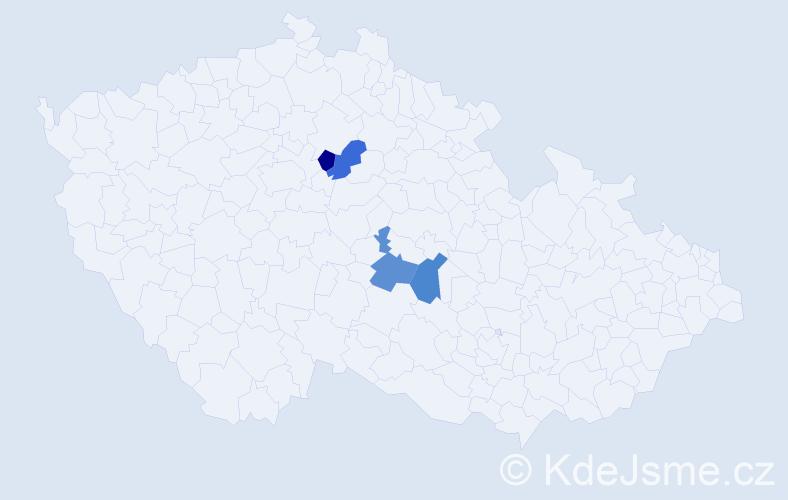 Příjmení: 'Hűblbauer', počet výskytů 4 v celé ČR