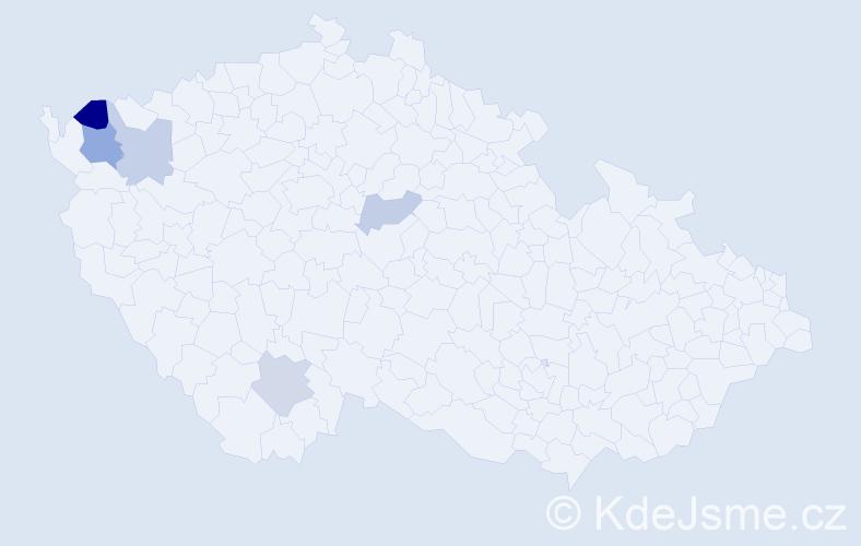 Příjmení: 'Čuryová', počet výskytů 7 v celé ČR