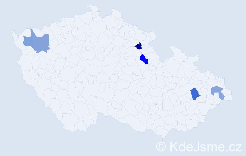 Příjmení: 'Ciesielski', počet výskytů 6 v celé ČR