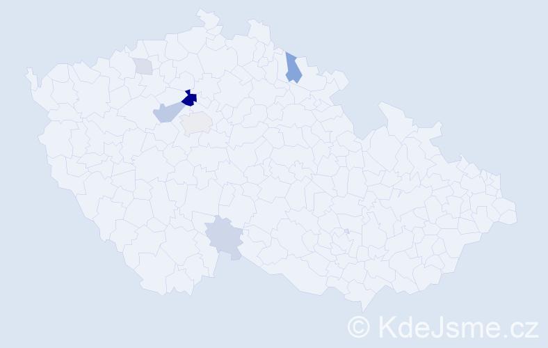 Příjmení: 'Luksík', počet výskytů 18 v celé ČR