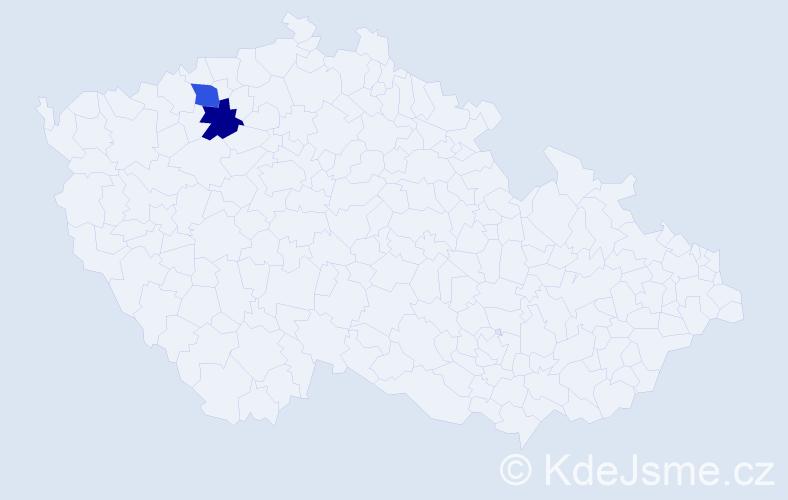 Příjmení: 'Gorschenková', počet výskytů 2 v celé ČR