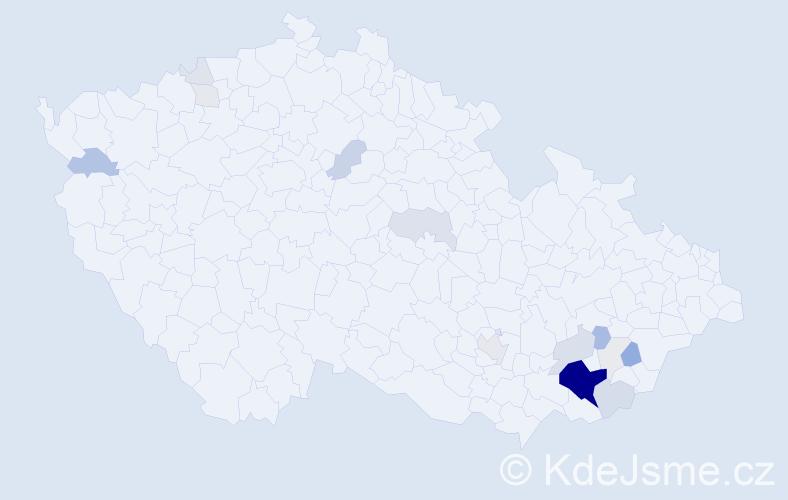 Příjmení: 'Katrňák', počet výskytů 69 v celé ČR
