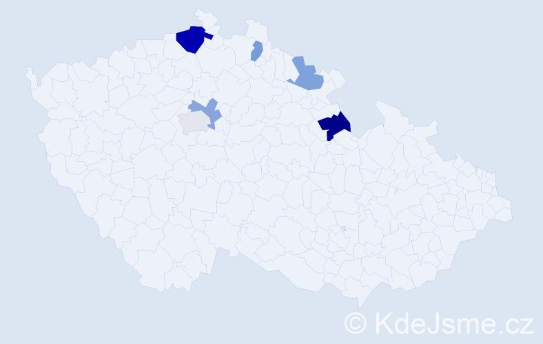Příjmení: 'Kolorenč', počet výskytů 10 v celé ČR