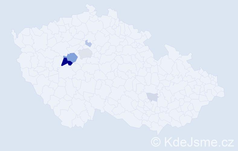 Příjmení: 'Carván', počet výskytů 21 v celé ČR