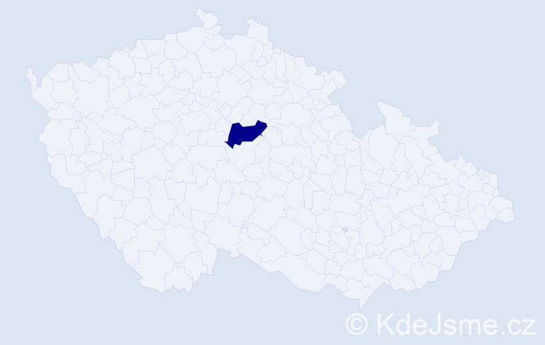 """Příjmení: '""""El Habtti""""', počet výskytů 1 v celé ČR"""