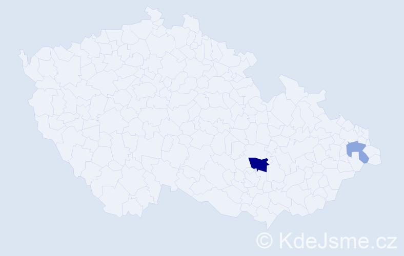 Příjmení: 'Chuka', počet výskytů 4 v celé ČR