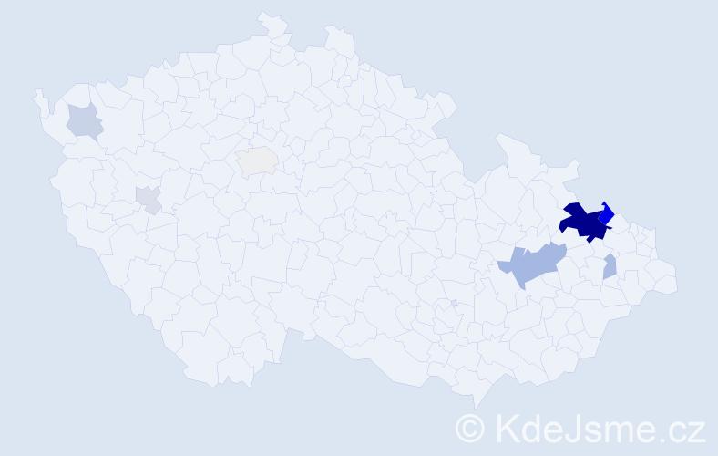 Příjmení: 'Davidek', počet výskytů 24 v celé ČR