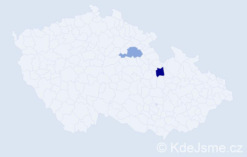 Příjmení: 'Dolgopolov', počet výskytů 2 v celé ČR
