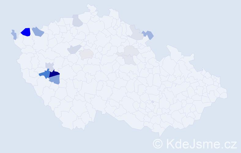 Příjmení: 'Kreč', počet výskytů 32 v celé ČR