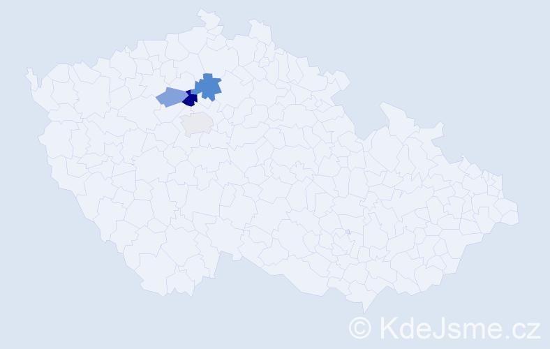 Příjmení: 'Ekhardová', počet výskytů 7 v celé ČR