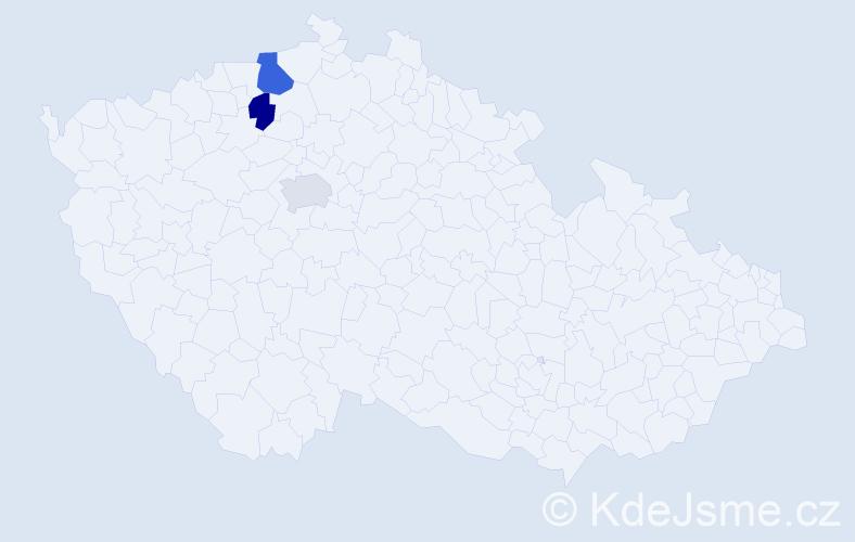 Příjmení: 'Danělková', počet výskytů 4 v celé ČR