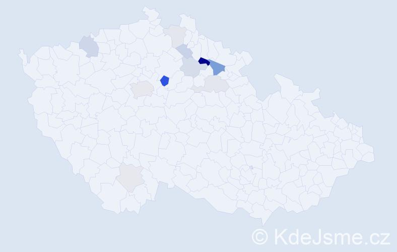 Příjmení: 'Bäumeltová', počet výskytů 26 v celé ČR