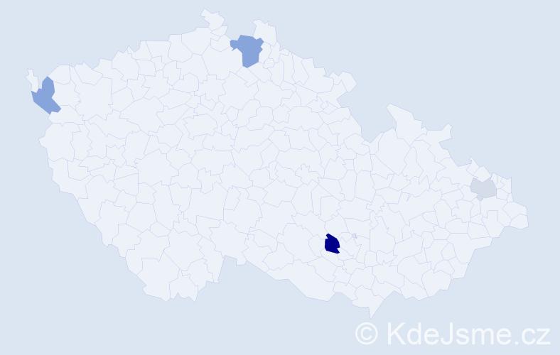 Příjmení: 'Bašnárová', počet výskytů 6 v celé ČR