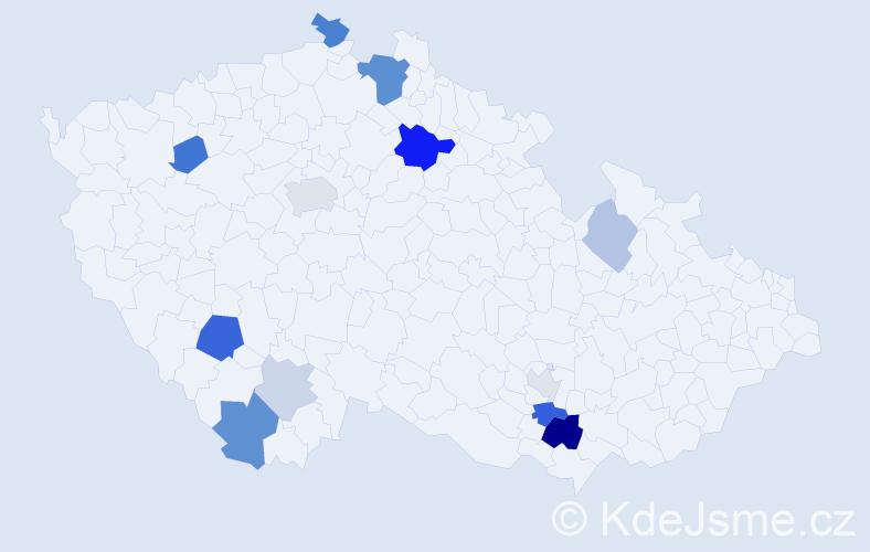 Příjmení: 'Bukovinská', počet výskytů 29 v celé ČR