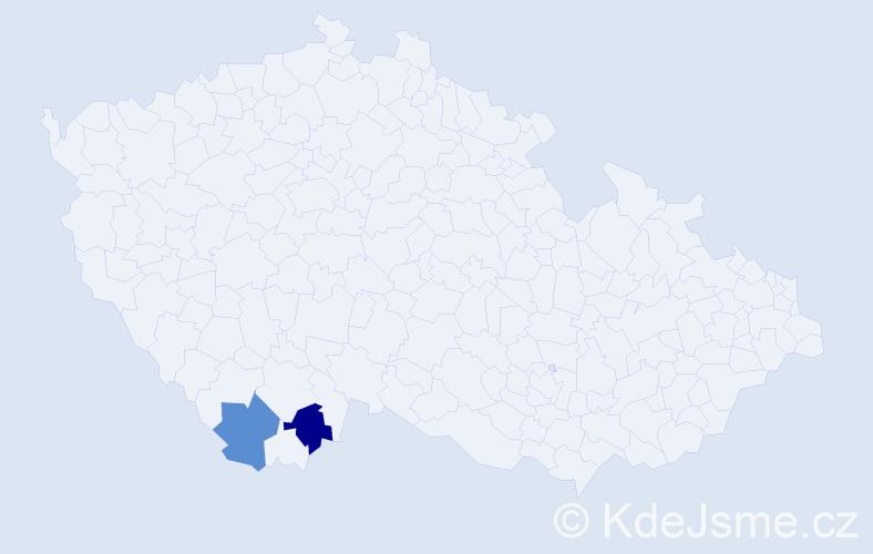 Příjmení: 'Červonyjová', počet výskytů 2 v celé ČR