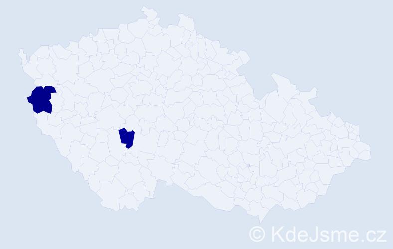 Příjmení: 'Demčo', počet výskytů 6 v celé ČR