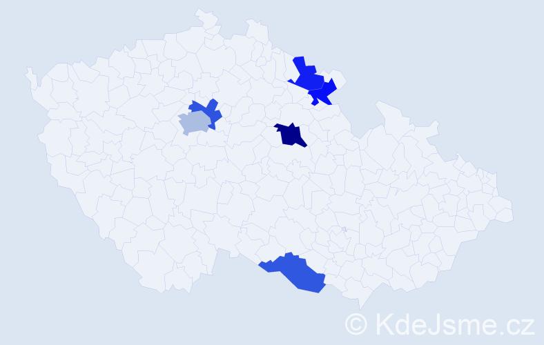 Příjmení: 'Eisenbruk', počet výskytů 8 v celé ČR